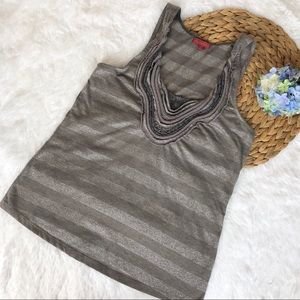 One September Striped Sleeveless Top S